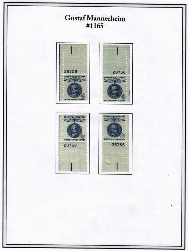 United States, 2  Four Corner Plate# singles sets