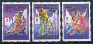 [63034] Mauritania 1992 Olympic Games Albertville From Set MNH