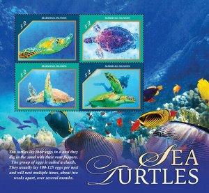 2020/12 - MARSHALL ISLANDS - SEA TURTLES     4V  complet set    MNH ** T