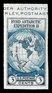 PCBstamps      US # 735a S.S. sgl. 3c Byrd Antarctic, MNH, (21)