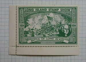 1934 Long Island Stamp Club NY Philatelic Souvenir Label Ad