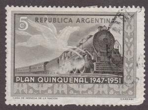 Argentina 595 Hinged 1951 Pegasus & Train