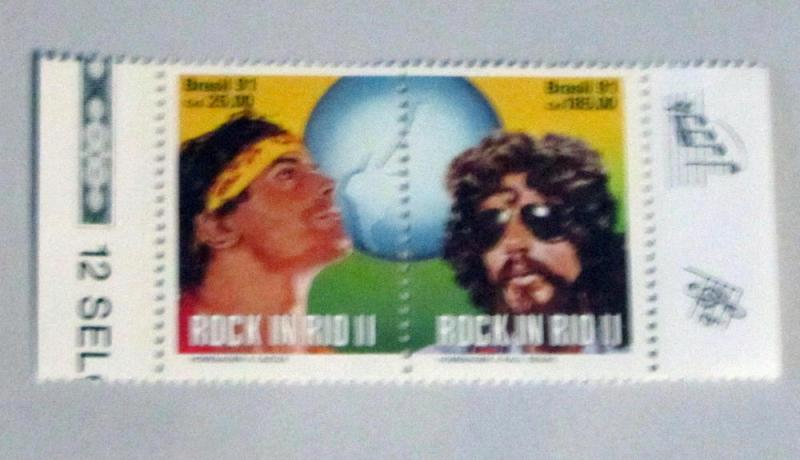Brazil - 2299a, MNH Pair, Set. Rock in Rio II. SCV - $3.50