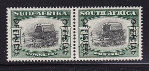 South Africa Scott # O51 VF LH pair with nice color cv $ 190 ! see pic !