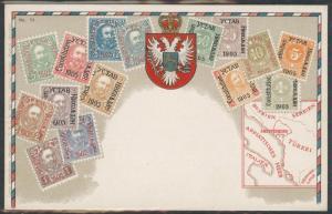 Montenegro Ottmar Zieher Munich No. 74 Flat Unused stampcard