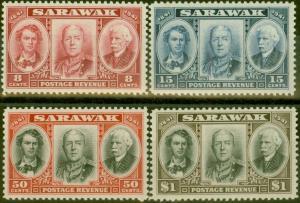 Sarawak 1946 Centenary set of 4 SG146-149 V.F MNH