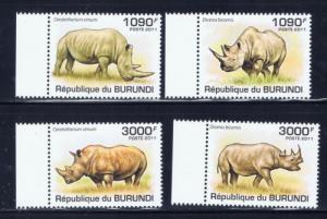 Burundi 832-35 NH 2011 Animals