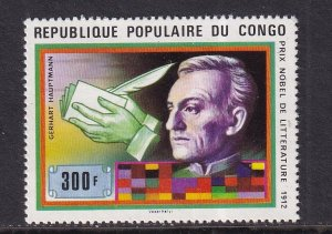 Congo, People`s Republic   #451  MNH 1978  Nobel price winners  300fr Hauptmann