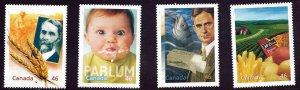 Canada 2000, Millennium MNH Singles set  # 1833a-d