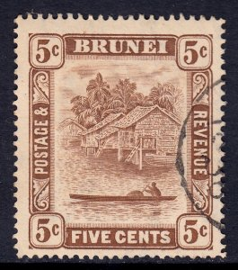 Brunei - Scott #51 - Used - Toning spot - SCV $1.20