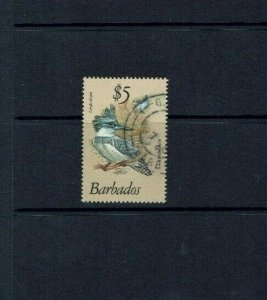 Barbados: 1979 $5 definitive Stamp FU, Belted Kingfisher, Fine used