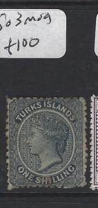 TURKS ISLANDS (P1805BB)  QV  1/-   SG 3   MOG
