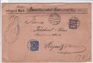 germany 1924 gold currency wax seals stamps cover   ref r13239