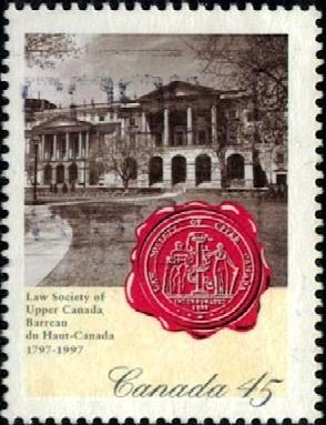 Law Society of Upper Canada, Bicent., Canada stamp SC#1640 used