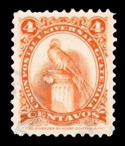 GUATEMALA STAMP 1957. SCOTT # 370. USED. # 3