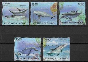 Burundi MNH Set Of 5 Dolphins 2012