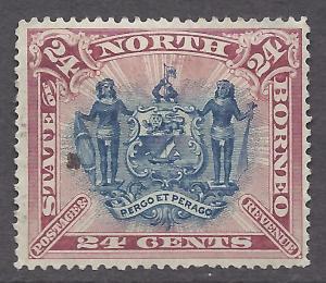 North Borneo # 67 MLH - 1894 24c Coat of Arms