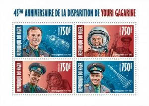 Niger - 2013 - Gagarin 45th Anniversary - 4 Stamp  Sheet 14A-256