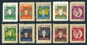 Viet Nam 993-1002,MNH.Mi 1028-1037. Five Year Plan,1979.