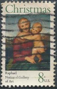 US 1507 (used) 8¢ Christmas, Raphael (1973)