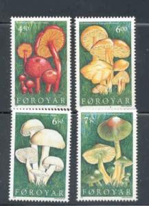Faroe Islands Sc 315-8 1997 mushroom stamps mint NH