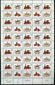 Antique Christmas Toys Sheet of 50 of Fifty 29 Cent Postage Stamps Scott 2711-14