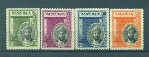 Zanzibar sc# 214-217 (3) mh cat value $49.75