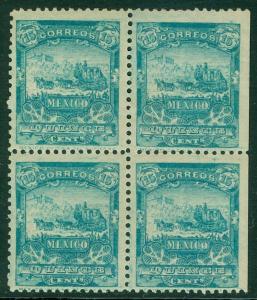 Mexico: 1898. Scott # 286. Block Of 4. Frisch,VF,Postfrisch Original Gum. Katze