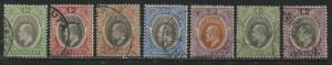 Southern Nigeria KEVII 1904 1/2d to 6d used