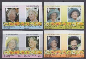1985 British Virgin Islands 519-526bPaar 85th anniversary of Queen Elizabeth II