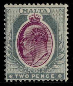 MALTA EDVII SG40, 2d purple & grey, M MINT. Cat £29.