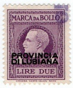 (I.B) Slovenia Revenue : Duty Stamp 2L (Italian Occupation)