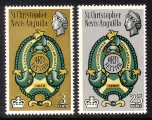 St. Kitts-Nevis Sc# 175-6 MLH Arts Festival 1966