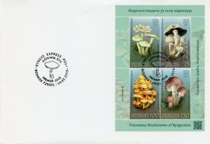 Kyrgyzstan KEP 2019 FDC Poisonous Mushrooms 4v M/S Cover Fungi Nature Stamps