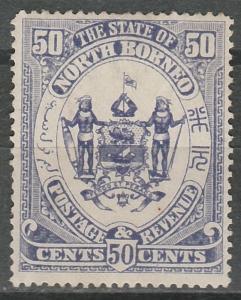 NORTH BORNEO 1894 ARMS 50C