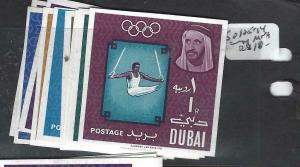 DUBAI   (P1905B)  OLYMPICS  SG 105-114  VAR IMPERF    MNH
