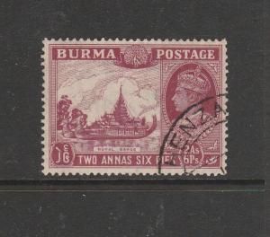 Burma 1938/40 2As 6Pi FU SG 25