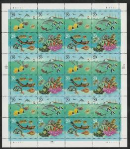 US Sheet of 24, Scott# 2866, MNH, Wonders of the sea, sheet, fish, sea,