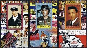 Kalmykia 2006 Elvis Presley set of 3 mini souvenir sheets MNH perforated stamp