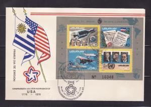 Uruguay C413 FDC American Bicentennial