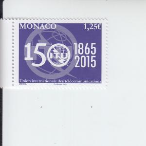 2015 Monaco Int Telecommunications Union (Scott 2802) MNH