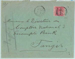 BK0254 -  MOROCCO AGENCIES - POSTAL HISTORY: COVER : MOGADOR to TANGIERS 1902