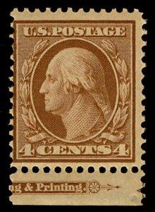 US #334 SCV $87.50 F/VF mint never hinged,  nice fresh color  4c Washington, ...