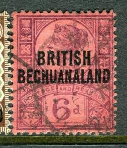 BECHUANALAND; 1891 early classic QV issue fine used 6d. value