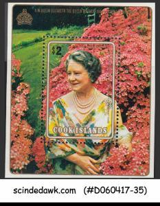COOK ISLANDS - 1980 QUEEN ELIZABETH THE QUEEN MOTHER BIRTHDAY - M/S MNH