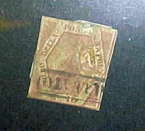 ITALY TWO SILICIES STAMP #5A cat.$350.00