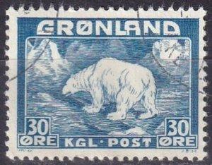 Greenland #7  F-VF Used  CV $7.25  (V4851)