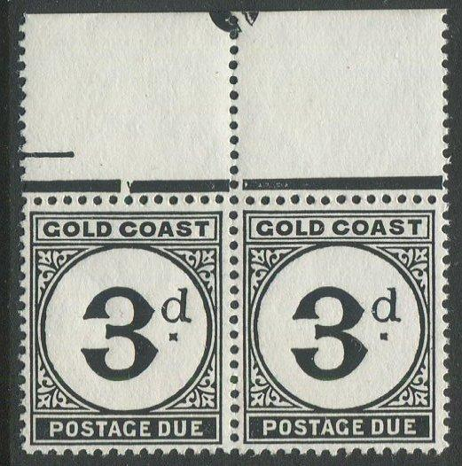 Gold Coast J6 Mint NH pair with top margin. $1 combined shipping