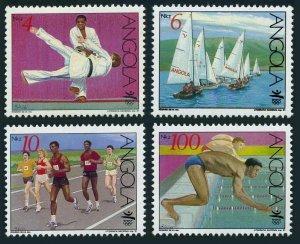 Angola 808-811,MNH.Mi 859-962. Olympics Barcelona-1992. Judo, Sailing, Running,