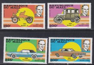 Mali # 546-549, Henry Ford & Ford Automobiles, NH, 1/2 Cat.